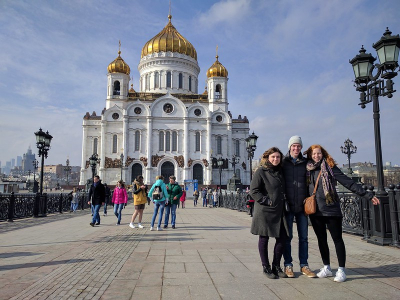 Study abroad in Moscow students religion Christ the Savior