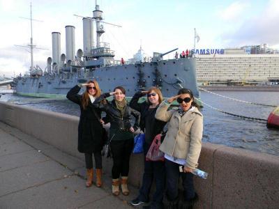 Study abroad in St. Petersburg language aurora cruiser students